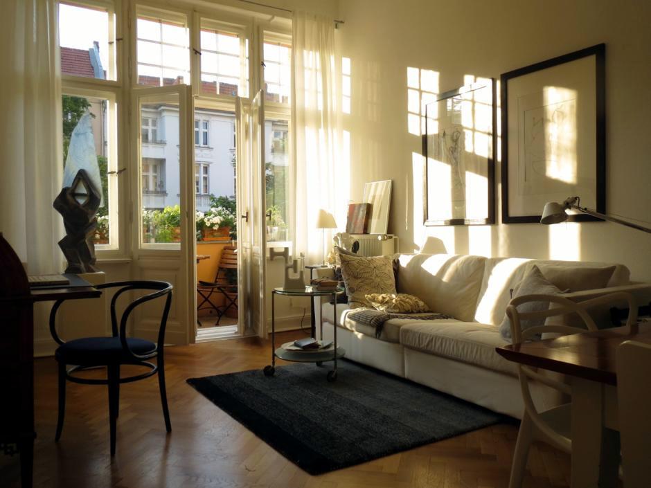 evening sun in the living room  Interior Design Ideas
