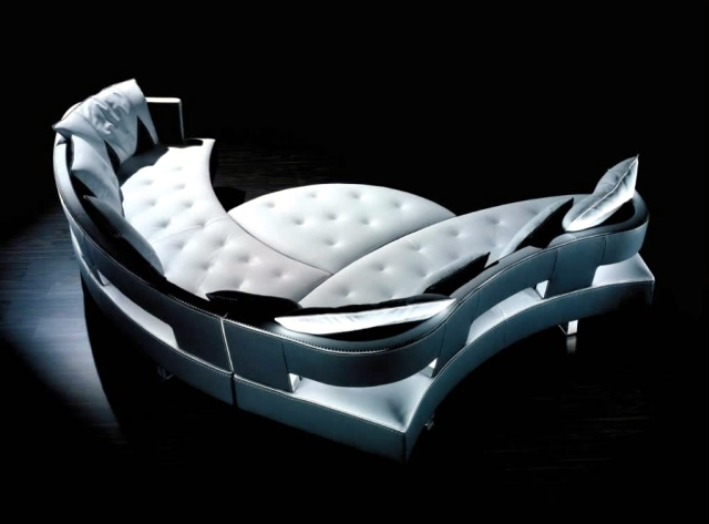 modern living room sofa set designs chandelier in the new leather modular with futuristic shape ...