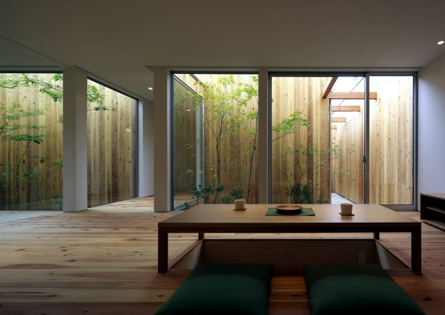 Modern Minimalist House With Garden In Nishimikuni Japan Interior Design Ideas Ofdesign