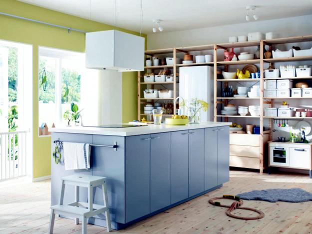 shelves instead of kitchen cabinets | interior design ideas - ofdesign