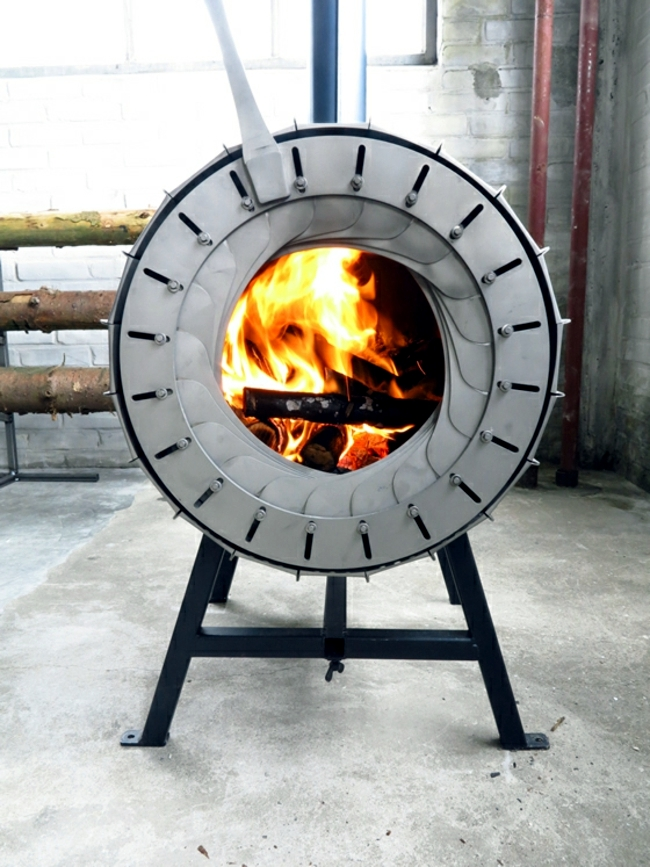 Modern Heating New Wood Logs Wood Design Interior