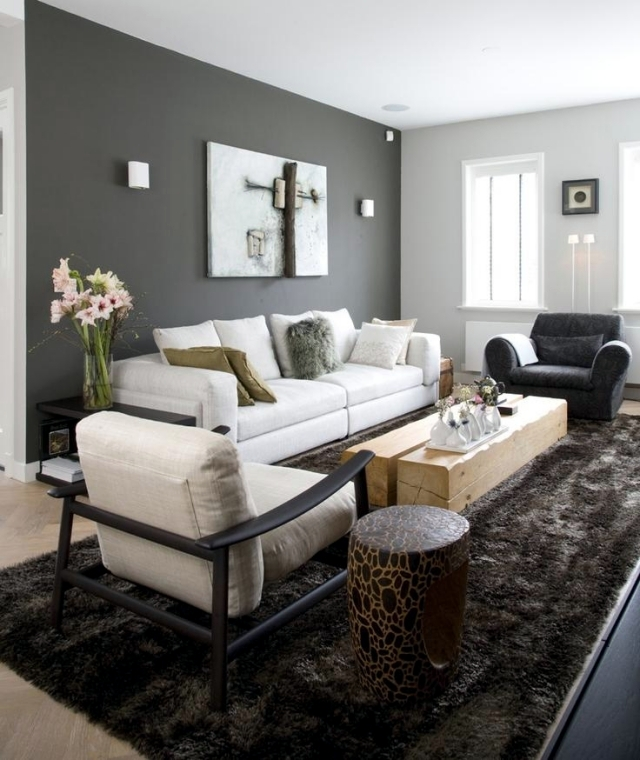 Color ideas for living room  gray wall paint  Interior Design Ideas  Ofdesign