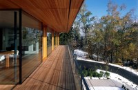 The wooden floor and balcony appearance and weather ...