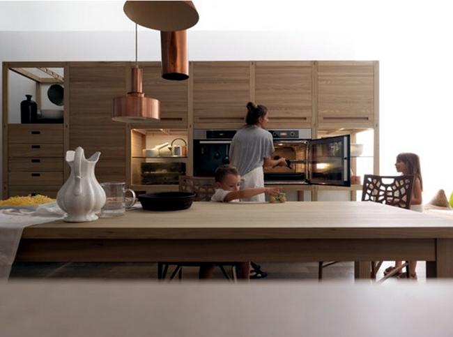 Wood kitchen ultramodern Sine Tempore by Valcucine sleek
