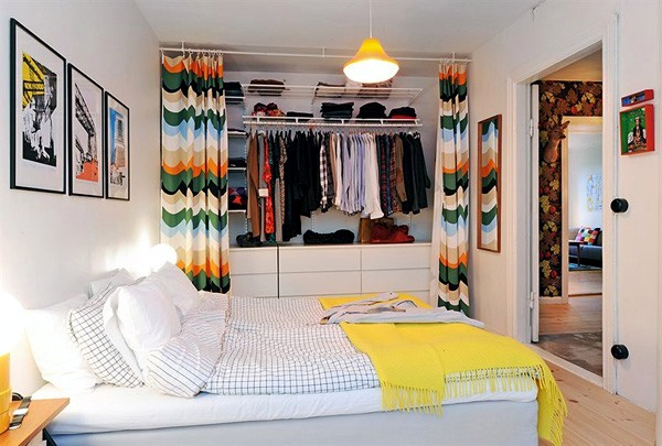 disguise an open closet in a room