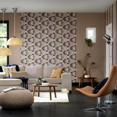 Retro Living Room Making Shelves For Wallpaper In The Interior Design Ideas Ofdesign