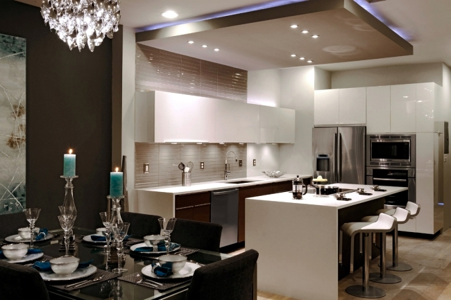 kitchen ceiling lighting mirrors 33 ideas for beautiful and led interior design indirect effects of