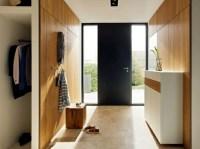Corridor modern design  offering wood furniture storage ...