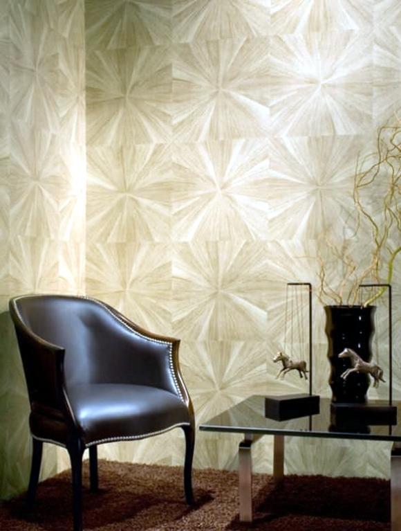 design wall with wallpaper luxury hand Maya Romanoff  Interior Design Ideas  Ofdesign