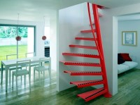 Square spiral staircase 1m2  with small dimensions ...