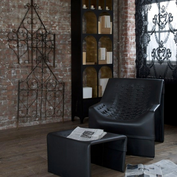 living rooms with black leather sofas modern furniture italian room sectional sofa set ask arts scene – the gothic style of life | interior ...