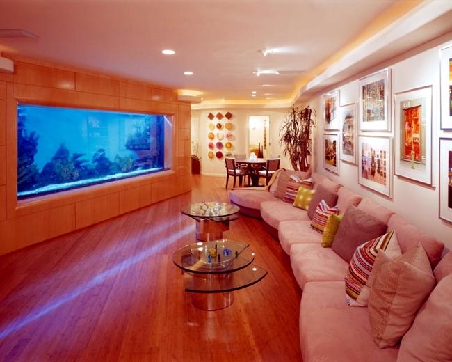 glass round kitchen table brick backsplash in 100 ideas integrate aquarium designs the wall or ...