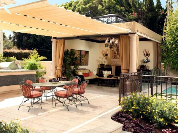 the garden pergola awning or canopy