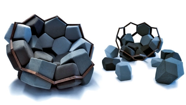 star furniture sofa table 24 inch pillows chair design in geometric shapes resembling natural ...