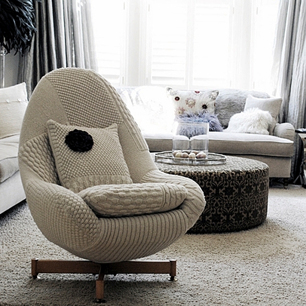 fur chair cover personalized makeup artist cozy at home with knitting, wool and furniture ceilings | interior design ideas - ofdesign