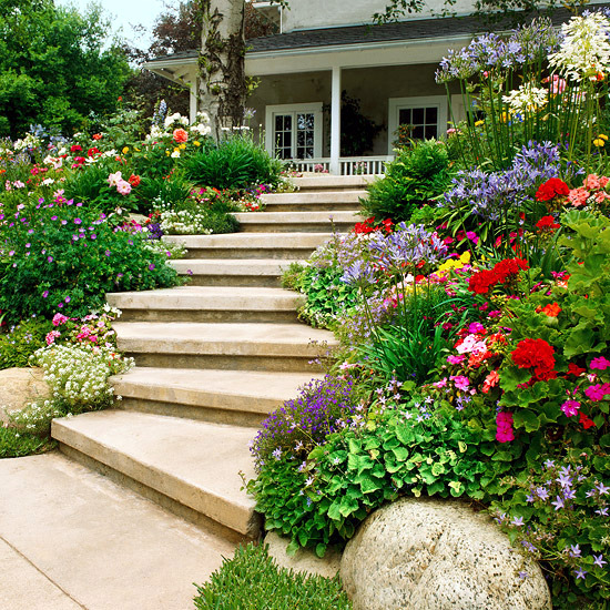 Creating A Garden On A Slope Ideas And Optimal Solutions For Slope