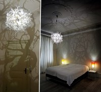 Decorative lights play stunning with light and shadow ...