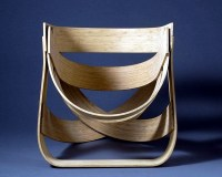 Designer chair made of bamboo  sustainability and