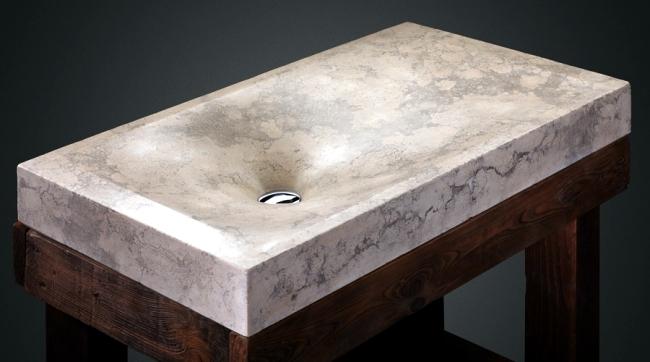 Fancy handmade concrete basin of Pietra Danzare  Interior