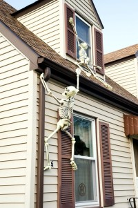Halloween garden decorations ideas with skeletons, skulls ...