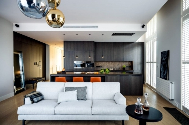 Living Room And Kitchen In One Space – 20 Modern Design Ideas