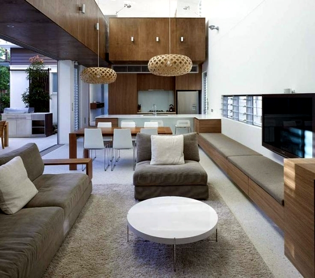 Living room and kitchen in one space  20 modern design