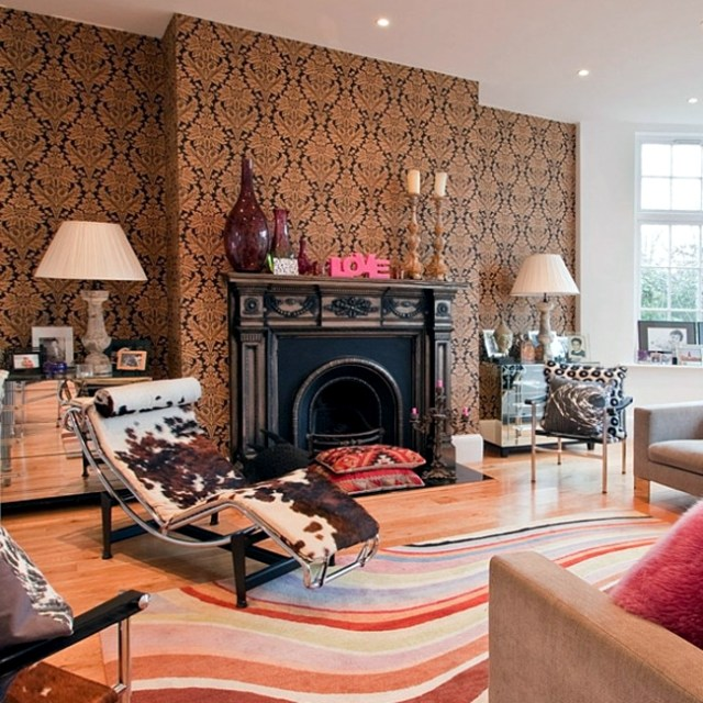 Living room with fireplace design - 33 ideas for warmth ...