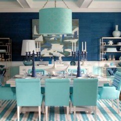 Solid Wood Kitchen Chairs Wheelchair Van Transportation Maritimes Dining Room Set – Aqua Colors And Symbols Of The Sea | Interior Design Ideas - Ofdesign