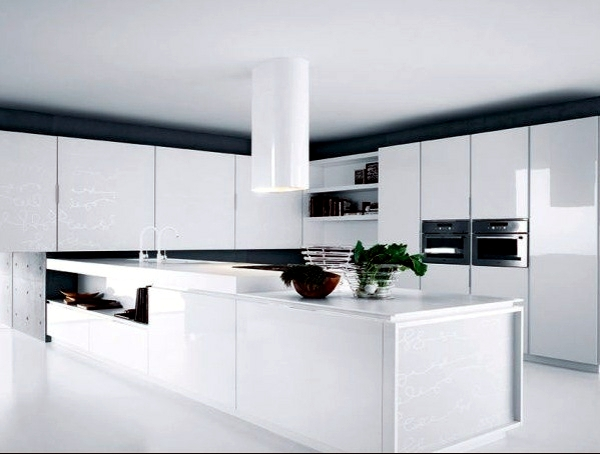 high gloss kitchen cabinets cabnits modern kitchens with italian design | interior ...
