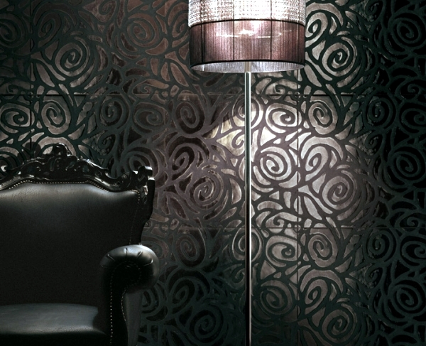Modern tiles with floral patterns  Italian design and