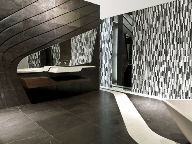 Natural stone in interior design  bricks, slabs or tiles