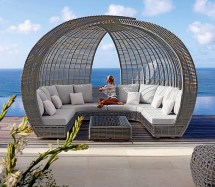 outdoor furniture relaxing