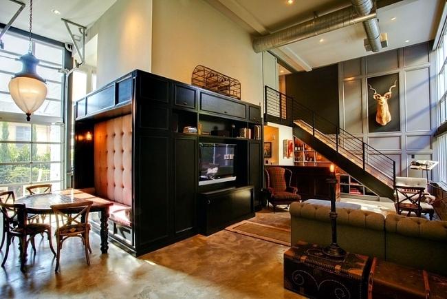 Retro interior design with industrial touch in a chic LA