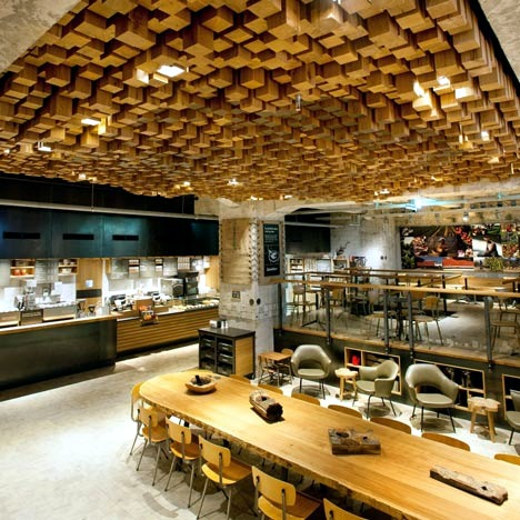 Starbucks The Bank in Amsterdam  Interior Design Ideas