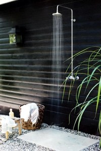 The shower for the garden  Solar, like waterfall and with ...