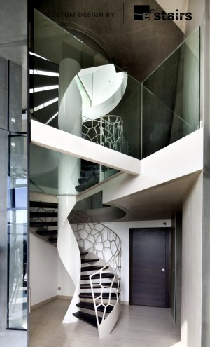 Unique design of steel banisters – Cells of EeStairs