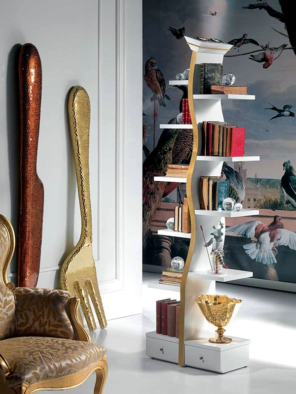 Unusual bookcase design of Carpanelli as flathighlight  Interior Design Ideas  Ofdesign