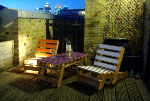 Upcycled furniture  tinker garden furniture euro pallets