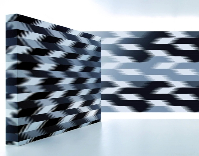Wallpaper designs by Zaha Hadid for Marburg stand for more