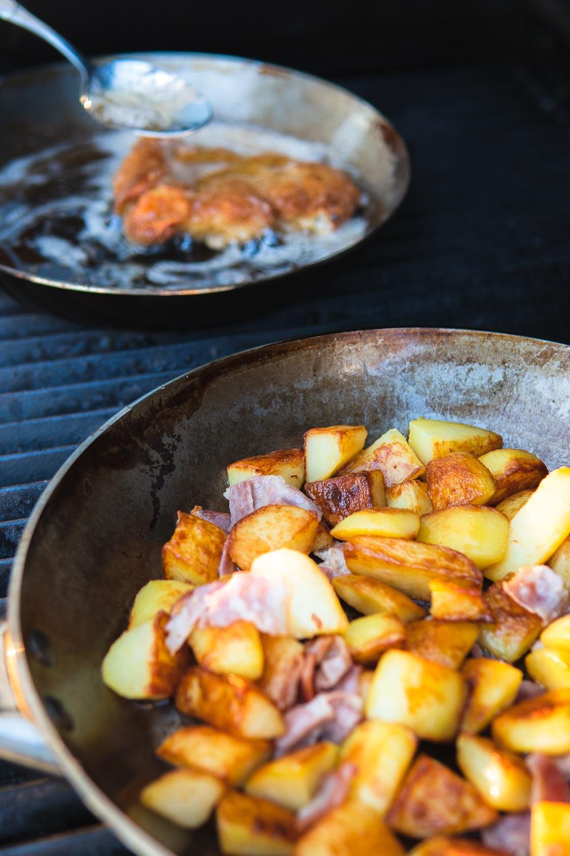 Grüne Sauce Soße Bratkartoffeln Frankfurter Schnitzel Hessen hessisch grie Soß Foodblog Ofen offen hessisches Nationalgericht