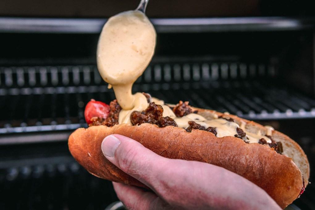 sloppy joe Rezept Hot Dog Sauce Soße Hackfleischsauce Ofen offen Foodblog Käsesauce Käse Soße