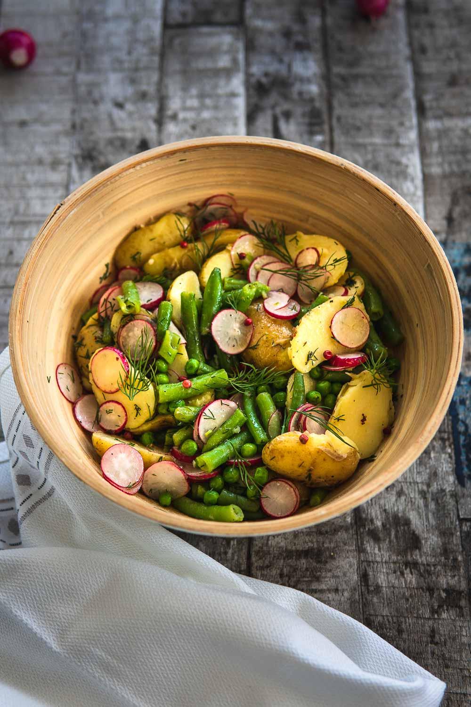 Kartoffelsalat vegan ohne Mayonnaise ohne Brühe zum Grillen