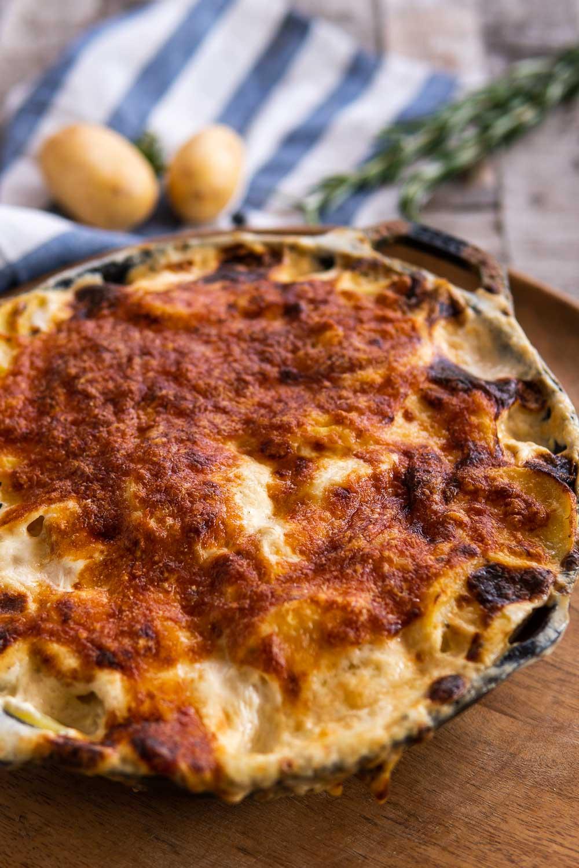 Kartoffelgratin mit Käse selber machen Rezept Beilage einfach cremig www.ofenoffen.de