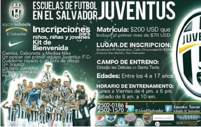 Juventus escuela de futbol EL Salvador