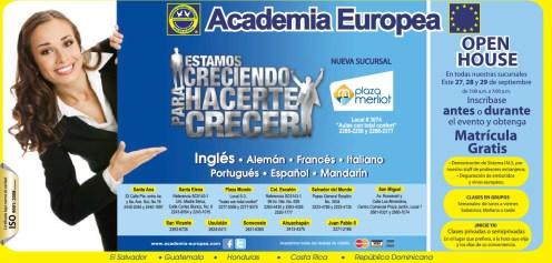 Aprende idiomas en la Academia Europea MATRICULA GRATIS - 25sep13