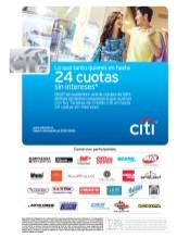 Banco Citi 24 cuotas sin intereses - 30sep13