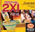 Chilis grill and bar Festival 2x1 Margaritas y Karaoke - 19sep13