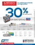 Descuento en baterias alternadores y amortiguadores - 30sep13
