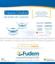 Fudem salud y vision GRATIS lentes de contacto - 03sep13