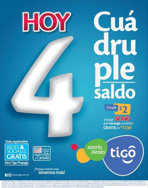 TIGO El Salvador todo septiembre redes sociales gratis